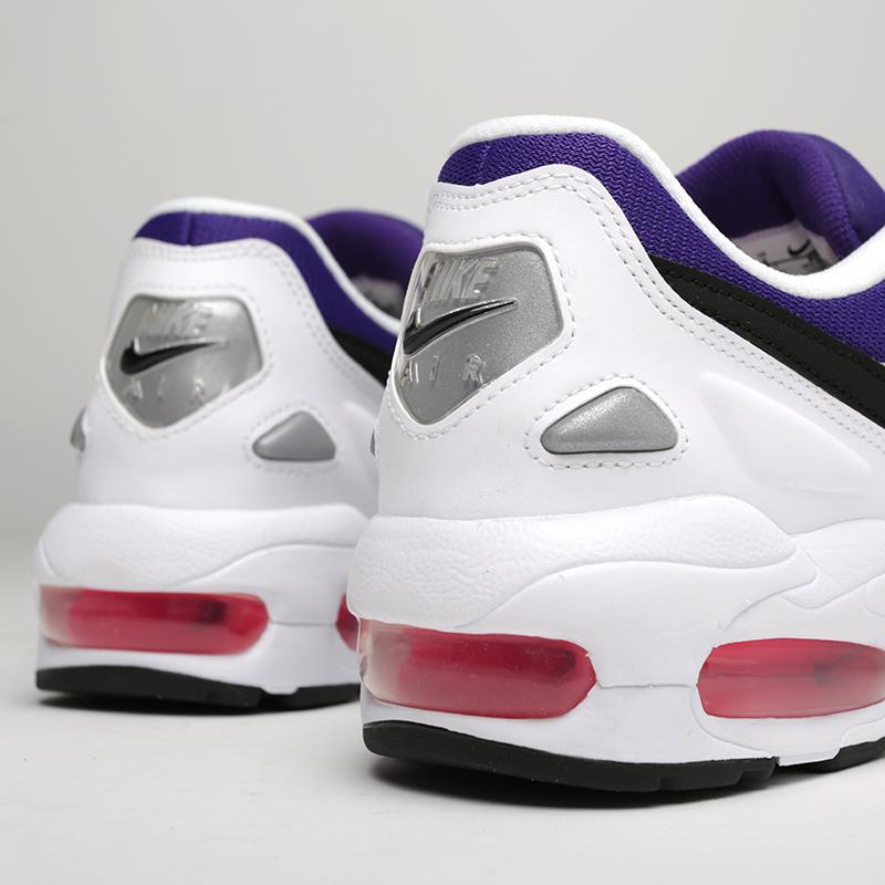 мужские белые, фиолетовые  кроссовки nike air max2 light AO1741-103 - цена, описание, фото 6