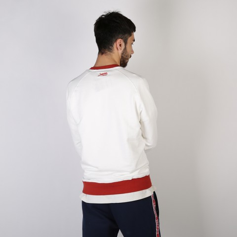 мужскую бежевую  толстовка запорожец heritage hoodies runner crewneck Runner-белый - цена, описание, фото 3