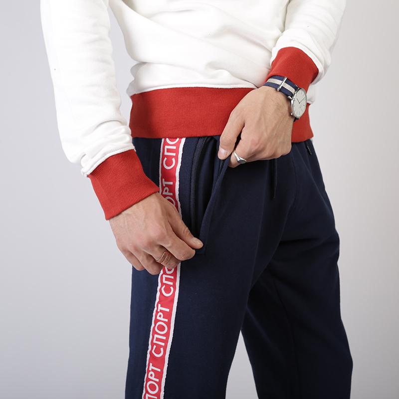 мужские синие  брюки запорожец heritage sport pant Sport Pant 1-черный - цена, описание, фото 4