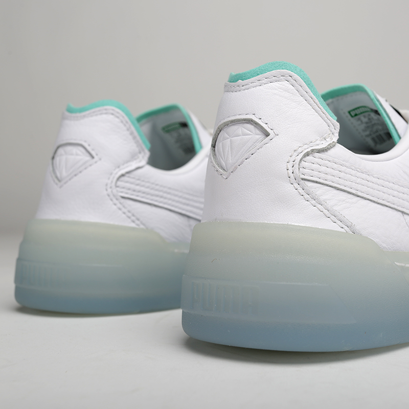 мужские белые  кроссовки puma cali-0 diamond supply 36939901 - цена, описание, фото 6