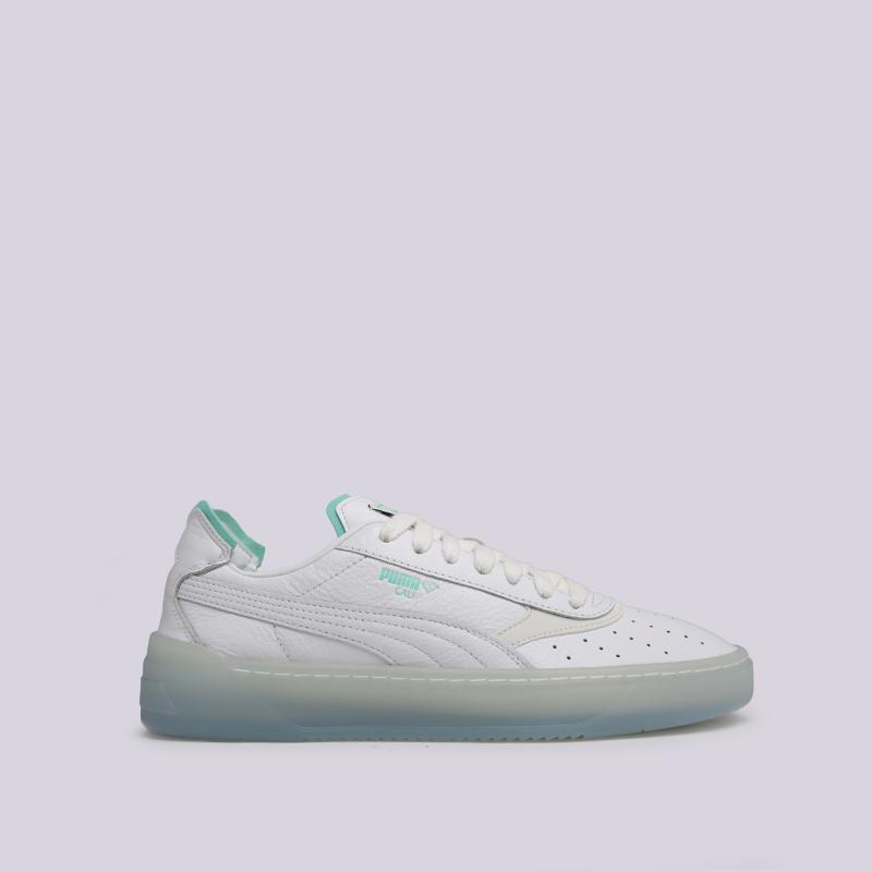 мужские белые  кроссовки puma cali-0 diamond supply 36939901 - цена, описание, фото 1