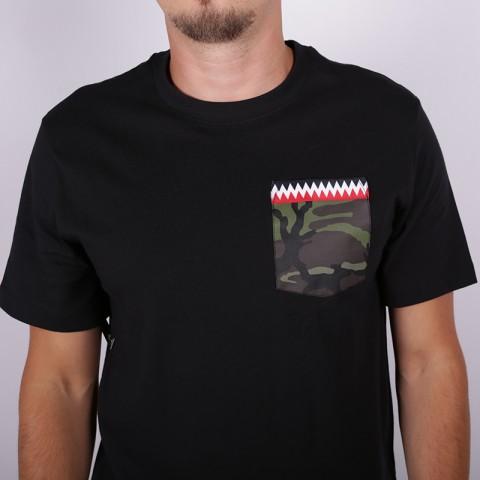 мужскую чёрную  футболка nike b19-72 CJ6196-010 - цена, описание, фото 2
