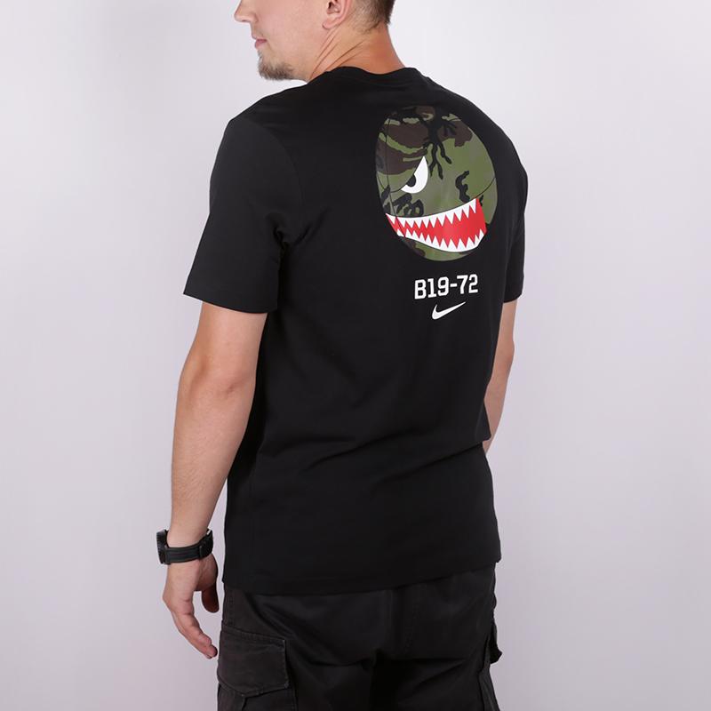 мужскую чёрную  футболка nike b19-72 CJ6196-010 - цена, описание, фото 3