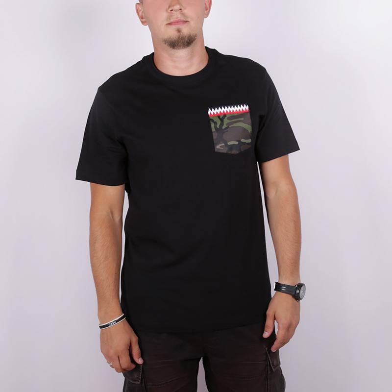 мужскую чёрную  футболка nike b19-72 CJ6196-010 - цена, описание, фото 1