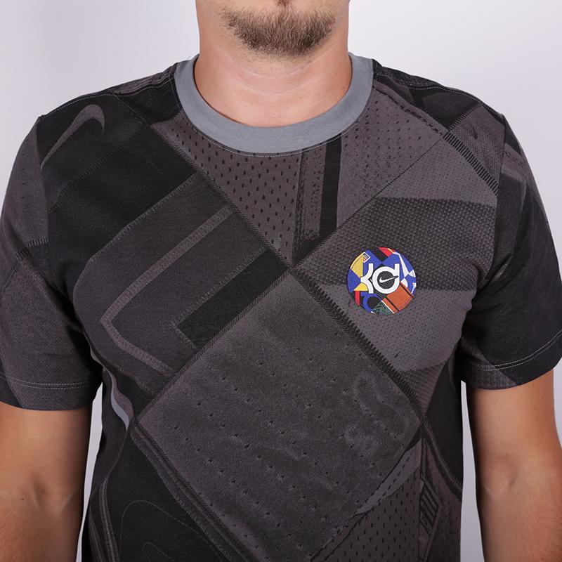 мужскую серую  футболка nike kd BV8328-065 - цена, описание, фото 2