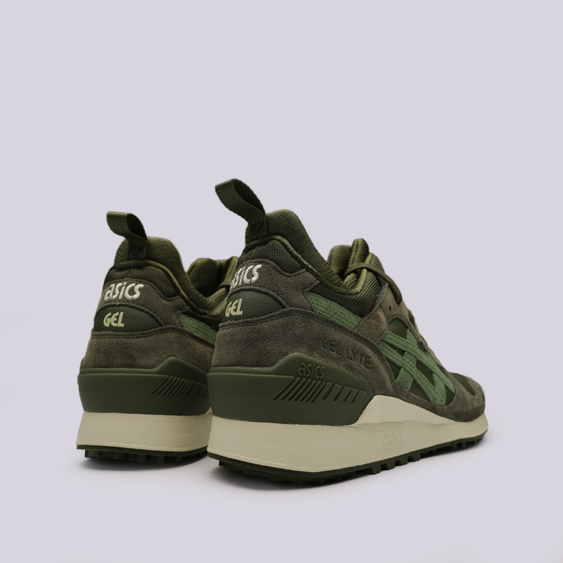 мужские зелёные  кроссовки asics gel-lyte mt 1193A035-300 - цена, описание, фото 4