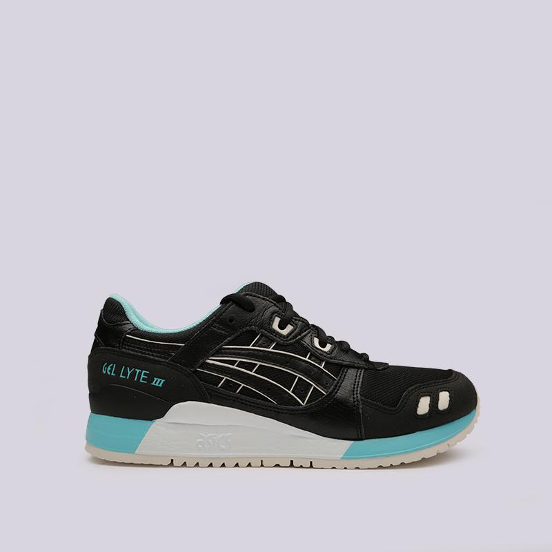 мужские чёрные  кроссовки asics gel-lyte iii 1191A223-001 - цена, описание, фото 1