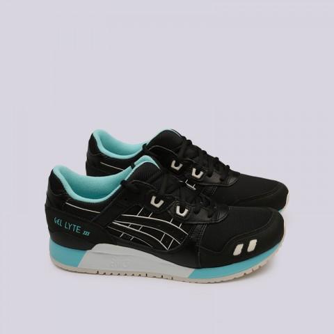 мужские чёрные  кроссовки asics gel-lyte iii 1191A223-001 - цена, описание, фото 3
