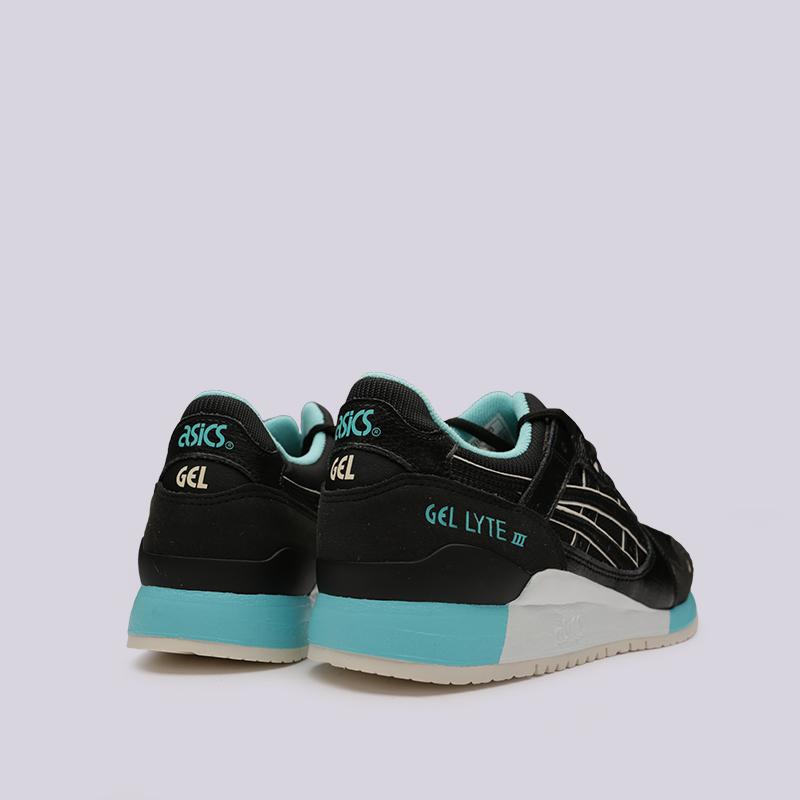мужские чёрные  кроссовки asics gel-lyte iii 1191A223-001 - цена, описание, фото 4