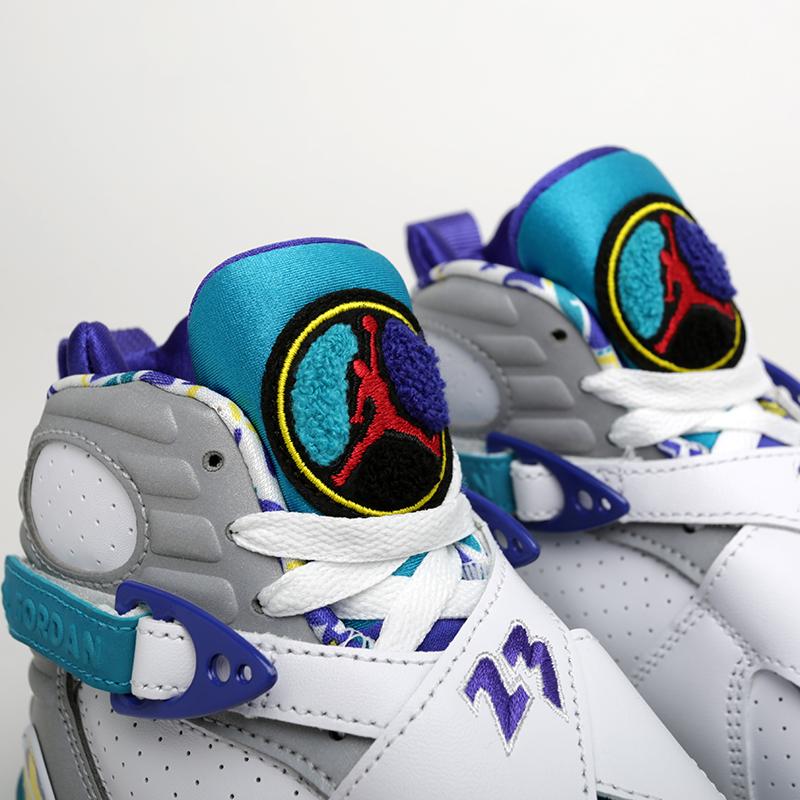 женские белые  кроссовки jordan wmns 8 retro CI1236-100 - цена, описание, фото 4