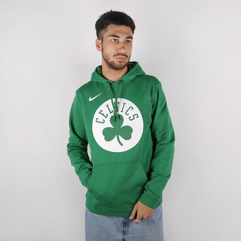 мужскую зелёную  толстовка nike boston celtics hoody AV0318-312 - цена, описание, фото 1