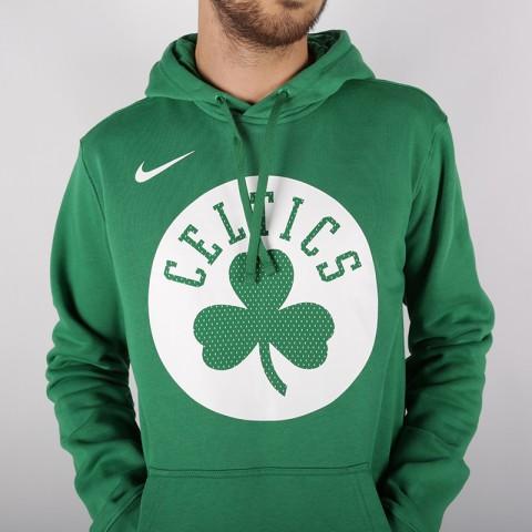 мужскую зелёную  толстовка nike boston celtics hoody AV0318-312 - цена, описание, фото 3