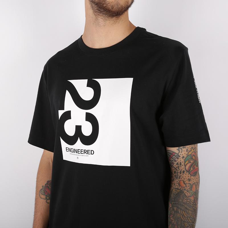 мужскую чёрную  футболка jordan 23 engineered AT8817-010 - цена, описание, фото 3