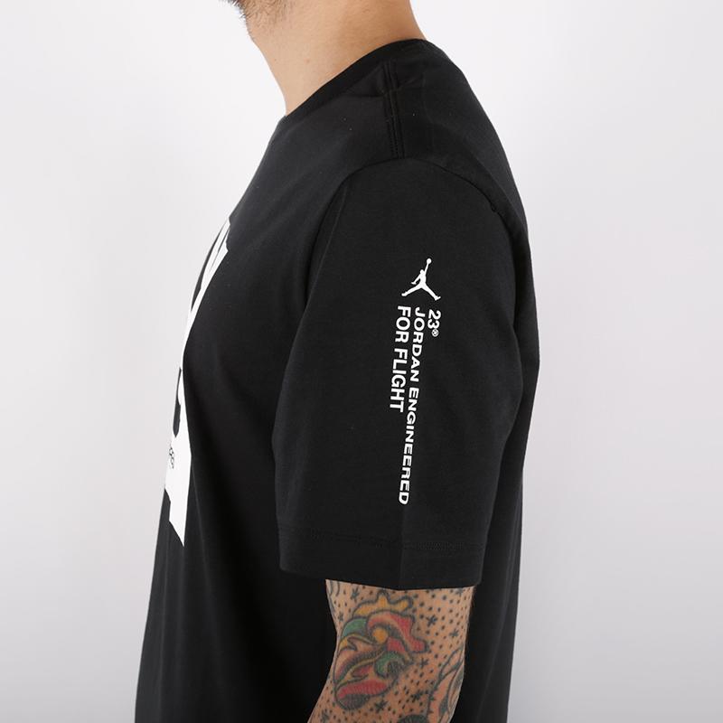 мужскую чёрную  футболка jordan 23 engineered AT8817-010 - цена, описание, фото 4
