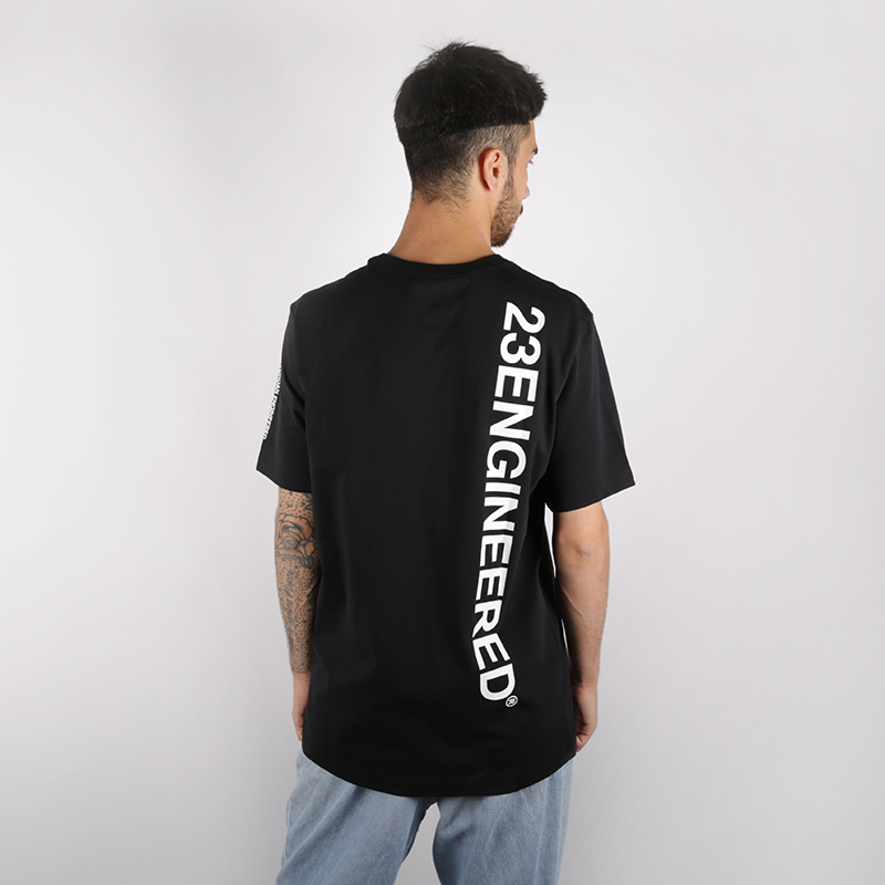 мужскую чёрную  футболка jordan 23 engineered AT8817-010 - цена, описание, фото 2