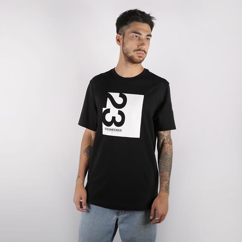 мужскую чёрную  футболка jordan 23 engineered AT8817-010 - цена, описание, фото 1