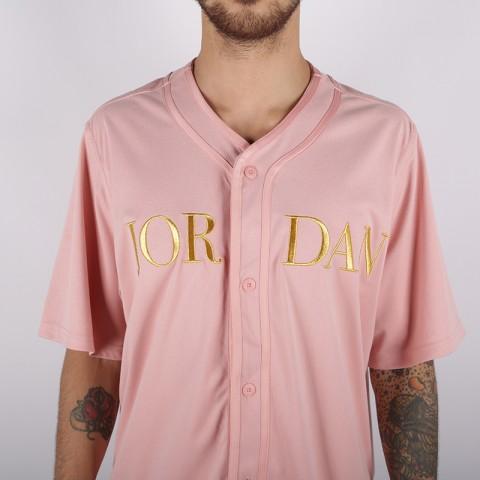 мужскую розовую  рубашку jordan remastered baseball top AT9822-623 - цена, описание, фото 3