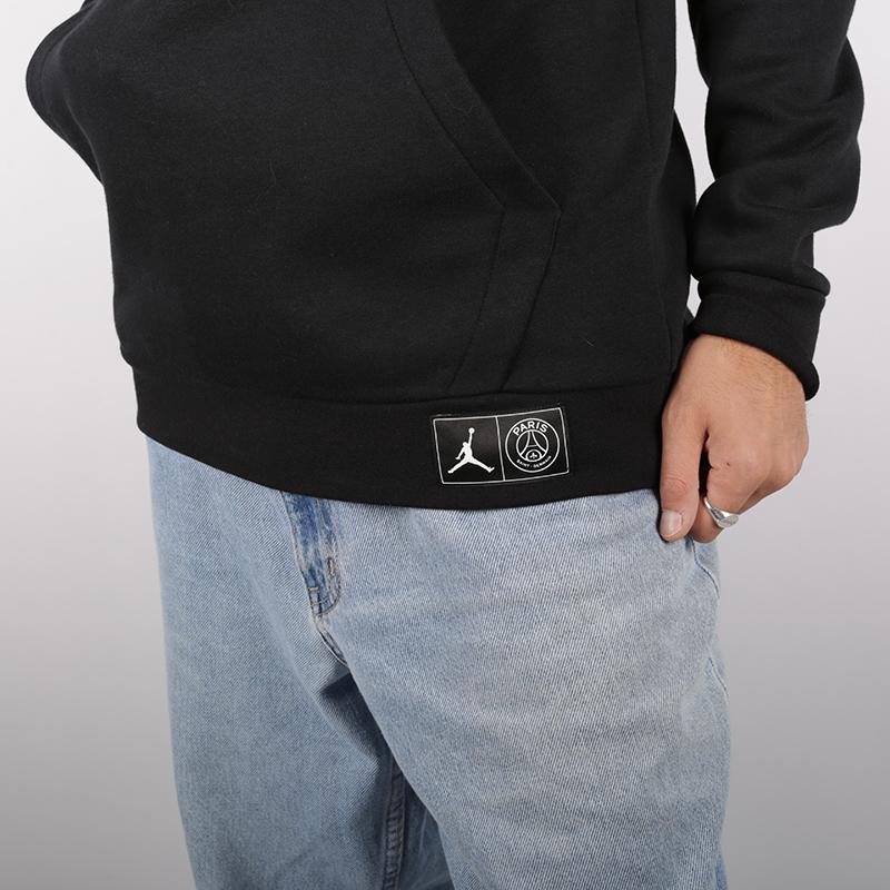 мужскую чёрную  толстовка jordan psg hoody BQ8350-010 - цена, описание, фото 4