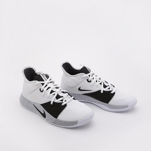 мужские белые, черные  кроссовки nike pg 3 AO2607-101 - цена, описание, фото 1