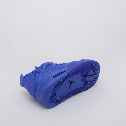 мужские синие  кроссовки jordan 4 retro flyknit AQ3559-400 - цена, описание, фото 2