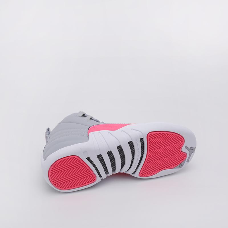 женские серые  кроссовки jordan 12 retro (gs) 510815-060 - цена, описание, фото 6