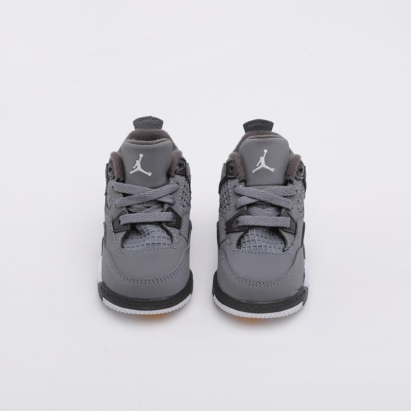 детские серые  кроссовки jordan 4 retro (td) BQ7670-007 - цена, описание, фото 2