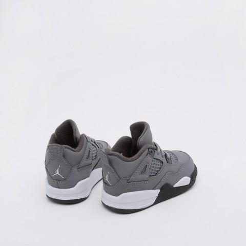 детские серые  кроссовки jordan 4 retro (td) BQ7670-007 - цена, описание, фото 3