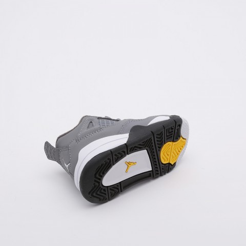 детские серые  кроссовки jordan 4 retro (td) BQ7670-007 - цена, описание, фото 4
