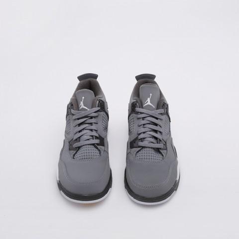 детские серые  кроссовки jordan 4 retro (ps) BQ7669-007 - цена, описание, фото 3