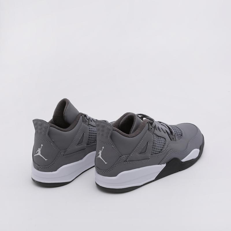 детские серые  кроссовки jordan 4 retro (ps) BQ7669-007 - цена, описание, фото 2