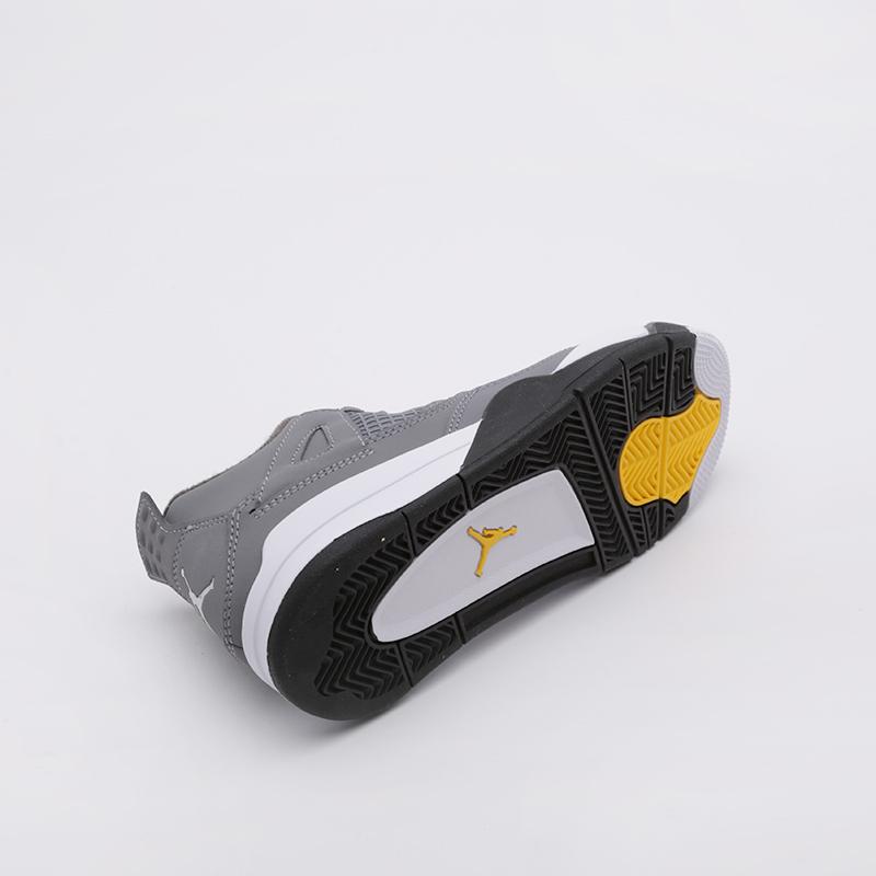 детские серые  кроссовки jordan 4 retro (ps) BQ7669-007 - цена, описание, фото 4