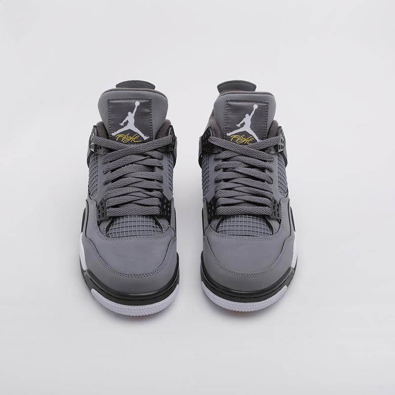 мужские серые  кроссовки jordan 4 retro 308497-007 - цена, описание, фото 2