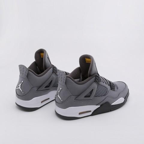 мужские серые  кроссовки jordan 4 retro 308497-007 - цена, описание, фото 3