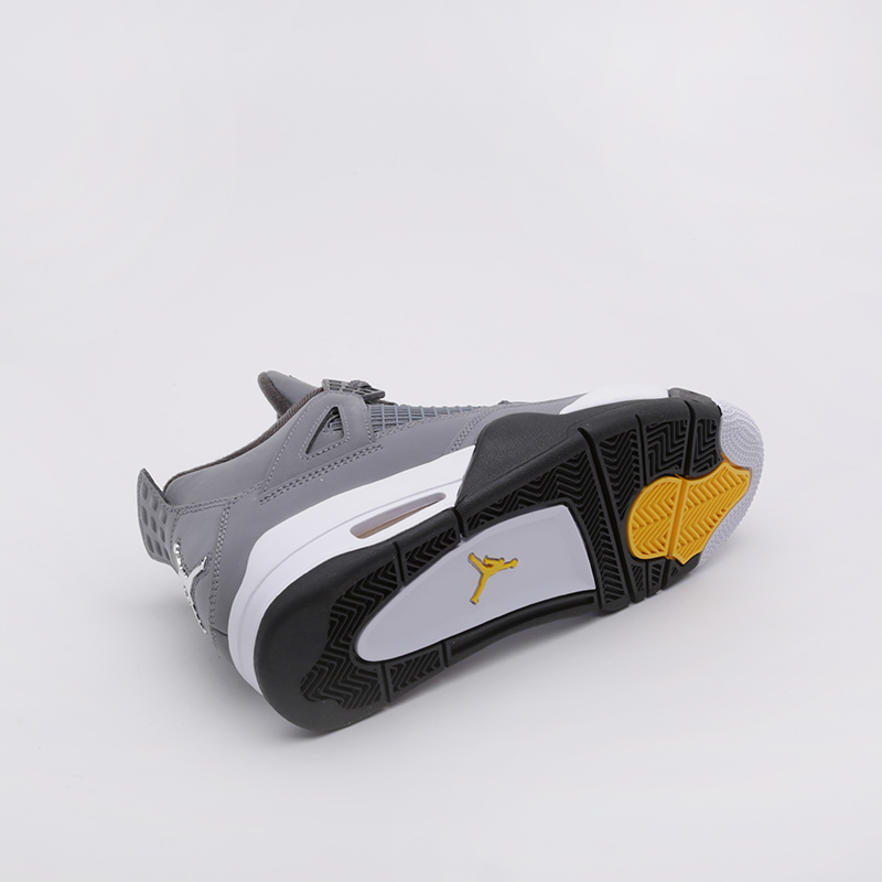 мужские серые  кроссовки jordan 4 retro 308497-007 - цена, описание, фото 4