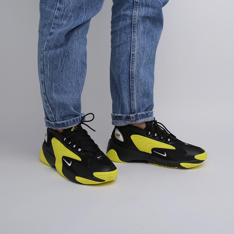 мужские чёрные, жёлтые  кроссовки nike zoom 2k AO0269-006 - цена, описание, фото 6