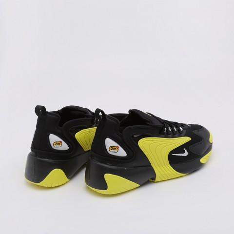 мужские чёрные, жёлтые  кроссовки nike zoom 2k AO0269-006 - цена, описание, фото 2