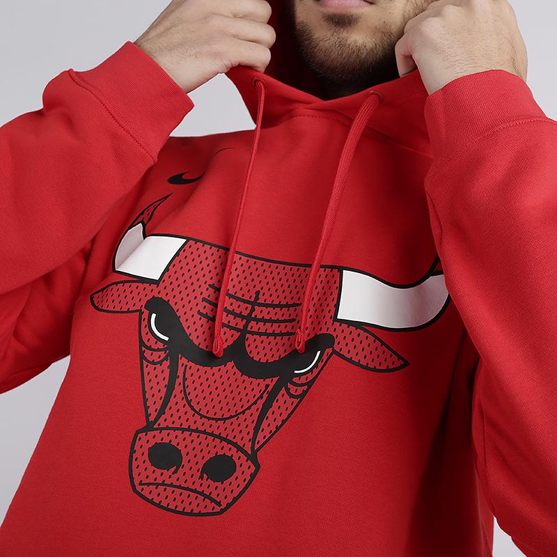 мужскую красную  толстовка nike chicago bulls hoodie AV0322-657 - цена, описание, фото 2