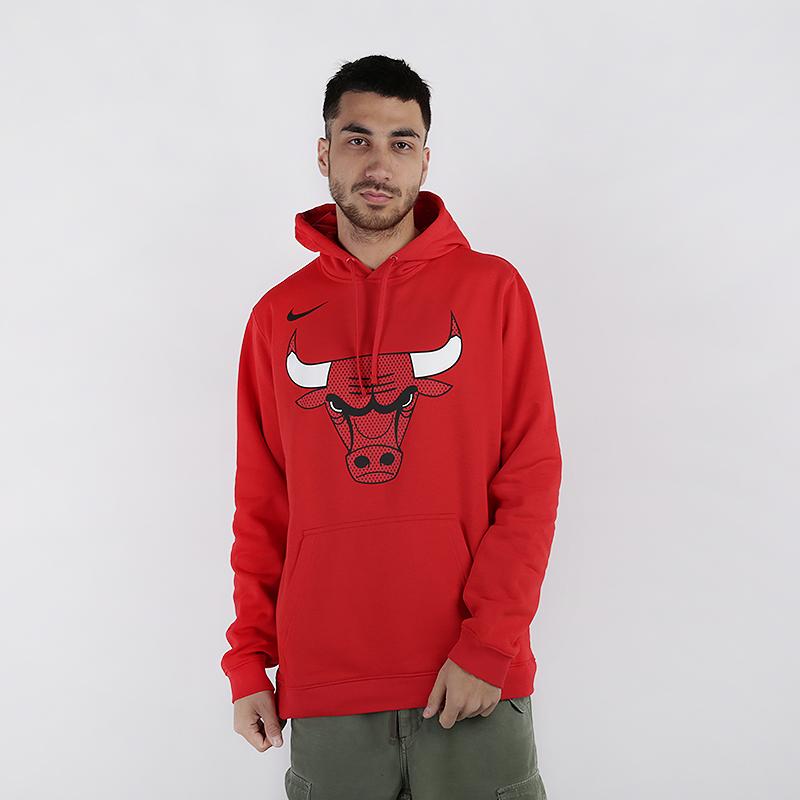 мужскую красную  толстовка nike chicago bulls hoodie AV0322-657 - цена, описание, фото 1