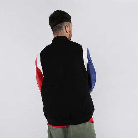 мужскую чёрную  куртку jordan dna varsity jacket AT9958-010 - цена, описание, фото 2