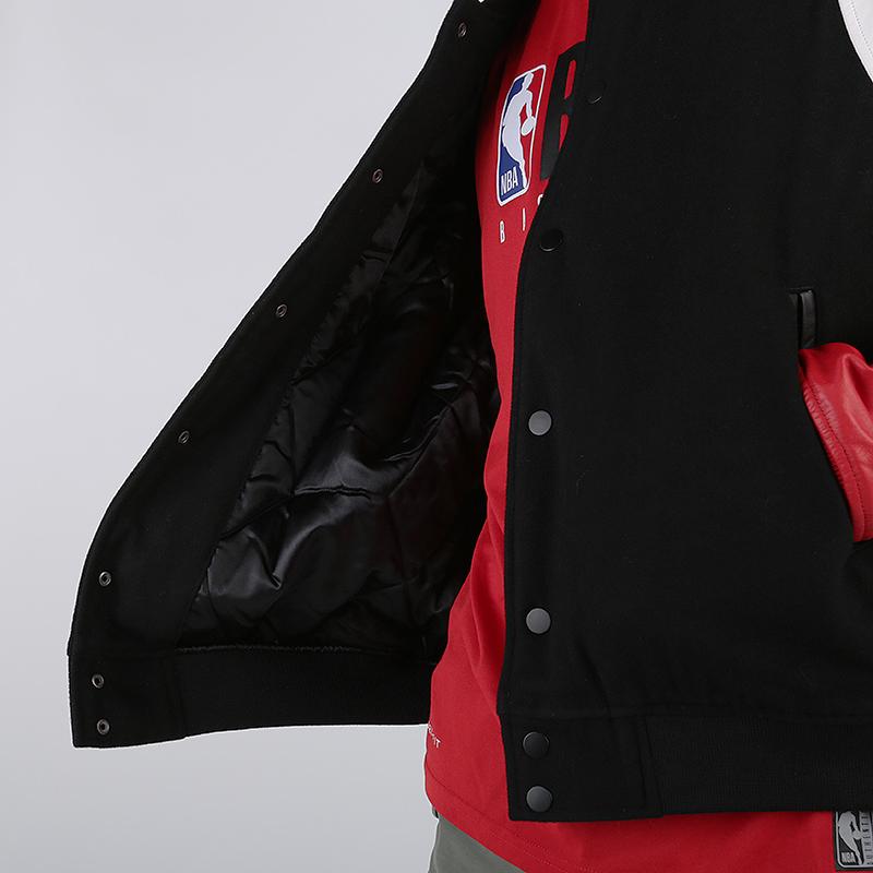 мужскую чёрную  куртку jordan dna varsity jacket AT9958-010 - цена, описание, фото 3
