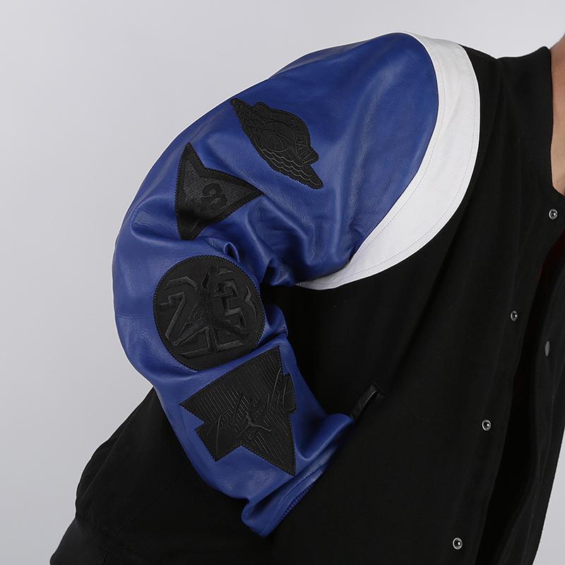 мужскую чёрную  куртку jordan dna varsity jacket AT9958-010 - цена, описание, фото 5
