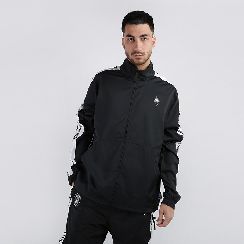 мужскую чёрную  куртку nike giannis freak track jacket CD9550-010 - цена, описание, фото 1