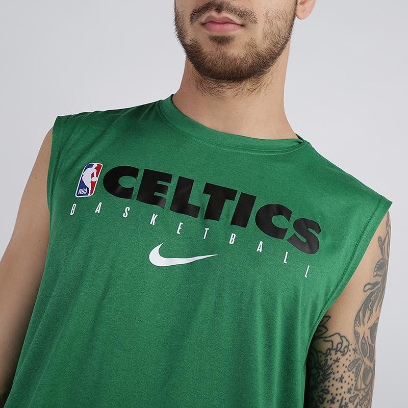 мужскую зелёную  майку nike boston celtics AT0606-312 - цена, описание, фото 3
