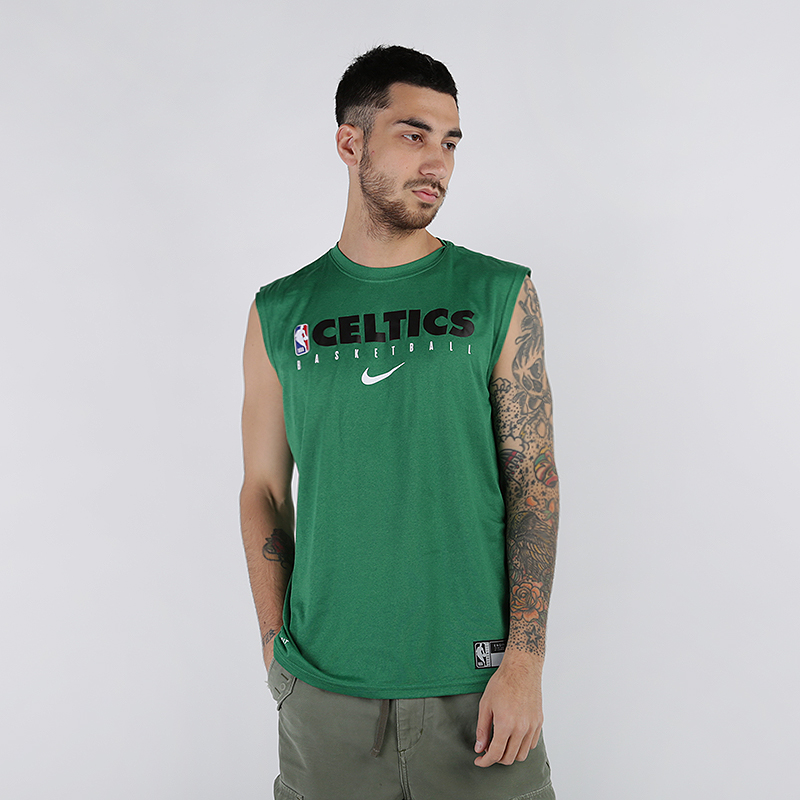 мужскую зелёную  майку nike boston celtics AT0606-312 - цена, описание, фото 1