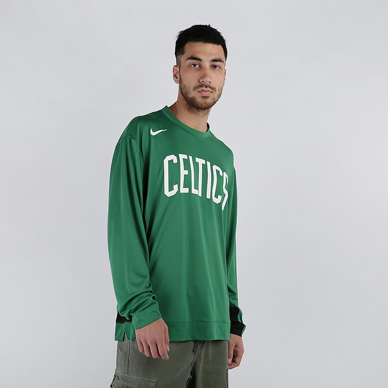 мужской зелёный  лонгслив nike nba boston celtics AT9379-312 - цена, описание, фото 1