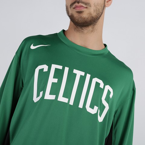 мужской зелёный  лонгслив nike nba boston celtics AT9379-312 - цена, описание, фото 3