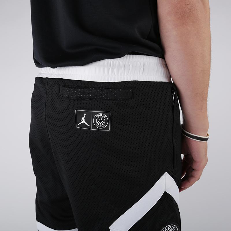 мужские чёрные  шорты jordan psg diamond short BQ8376-010 - цена, описание, фото 5