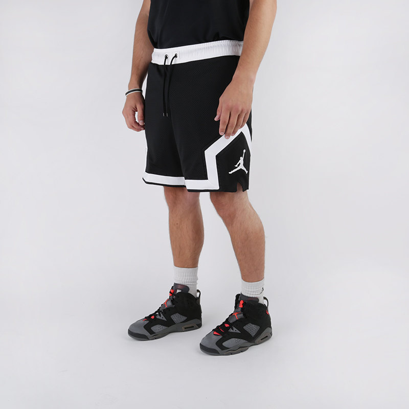 мужские чёрные  шорты jordan psg diamond short BQ8376-010 - цена, описание, фото 1