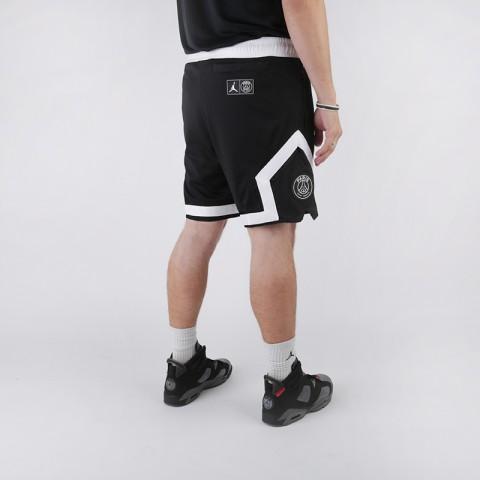 мужские чёрные  шорты jordan psg diamond short BQ8376-010 - цена, описание, фото 2