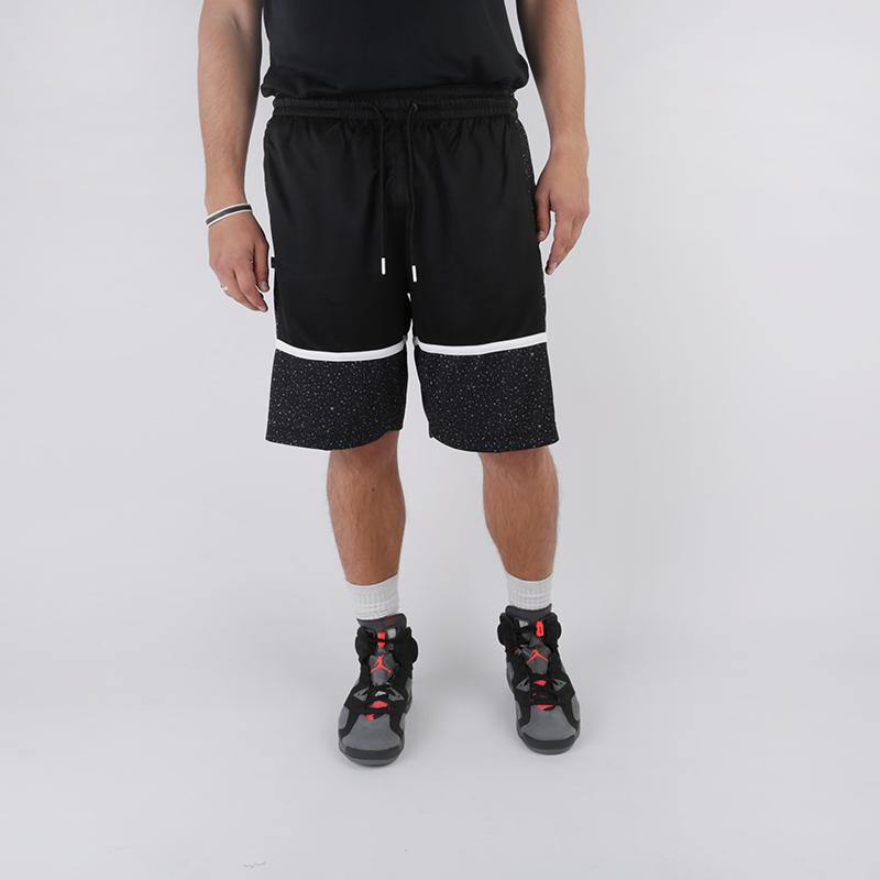 мужские чёрные  шорты jordan jumpman graphic short AV3211-013 - цена, описание, фото 1